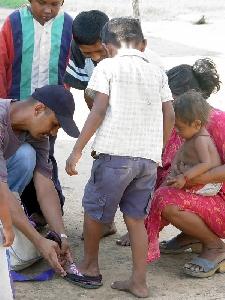 Soles4souls Handing Out Shoes In The Slums Of Venezuela